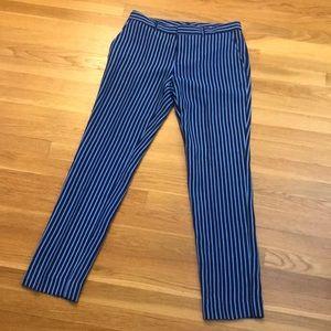 NWT Striped Blue Pants Banana Republic